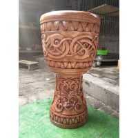 Djembe Drum (deeply carved)